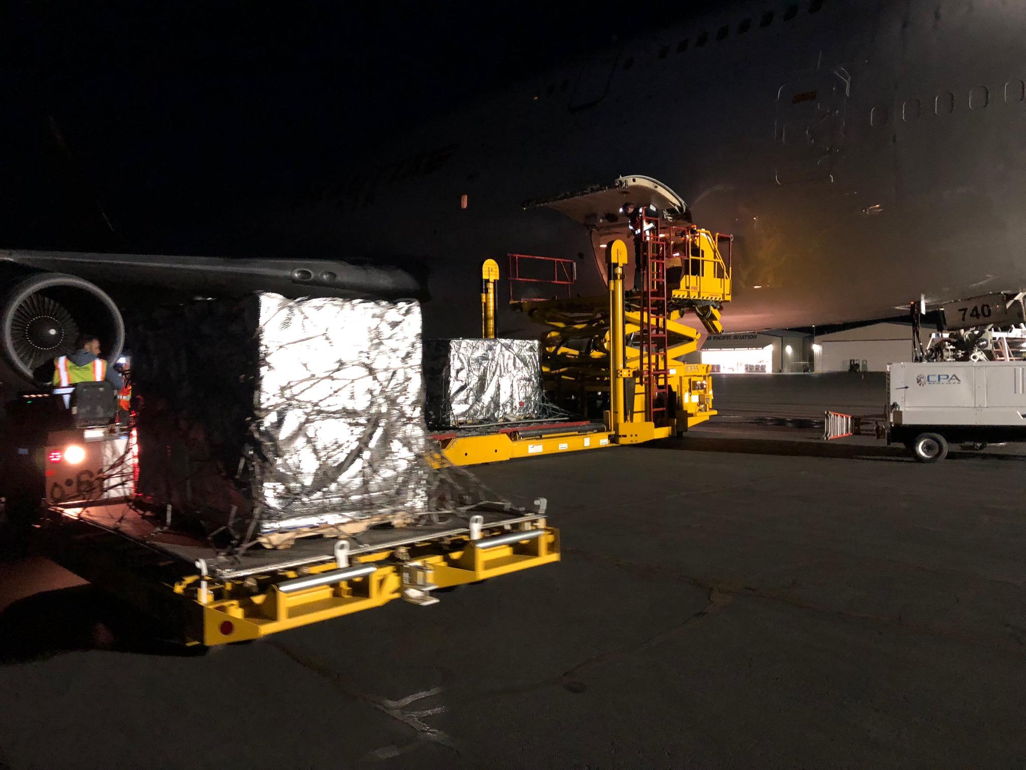 CPA loads a Boeing 747.